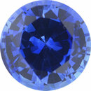 Fine Sapphire Loose Gem in Round Cut, Medium Violet Blue, 6.99 mm, 1.58 Carats