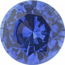 Bargain Priced Sapphire Loose Gem in Round Cut, Medium Violet Blue, 5.23 mm, 0.62 Carats
