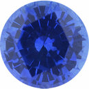 Stunning Sapphire Loose Gem in Round Cut, Medium Violet Blue, 6.51 mm, 1.39 Carats