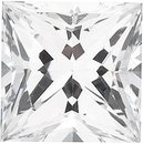 Grade GEM CHATHAM CREATED WHITE SAPPHIRE Princess Cut Gems  - Calibrated