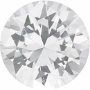 Grade GEM CHATHAM CREATED WHITE SAPPHIRE Round Cut Gems - Calibrated