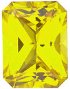 Grade GEM CHATHAM CREATED YELLOW SAPPHIRE Emerald Cut  - Calibrated