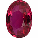 Fabulous  Unheated Ruby Loose Gem in Oval Cut, Vibrant Purple Red, 7.29 x 5.31  mm, 1.1 Carats
