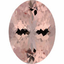 Genuine Morganite Loose Gem in Oval Cut, Light Purple Pink, 15.02 x 11.05 mm, 6.61 Carats