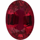 Genuine Ruby Loose Gem in Oval Cut, Vibrant Purple Red, 7.45 x 5.35  mm, 1.17 Carats