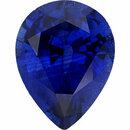 Gorgeous Sapphire Loose Gem in Pear Cut, Medium Violet Blue, 9.04 x 6.87  mm, 1.81 Carats