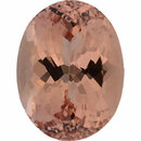 Hard to Find Morganite Loose Gem in Oval Cut, Light Orangy Pink, 20.68 x 15.80 mm, 23.03 Carats