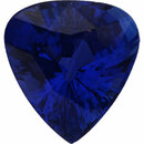 Magnificent Sapphire Loose Gem in Pear Cut, Vibrant Violet Blue, 9.97 x 9.36  mm, 3.82 Carats
