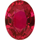 Natural  Unheated Ruby Loose Gem in Oval Cut, Medium Purple Red, 6.77 x 5.10  mm, 1.16 Carats