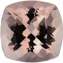 Real Morganite Loose Gem in Antique Square Cut, Light Pink, 12.15 x 12.11 mm, 6.8 Carats