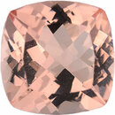 Rich Morganite Loose Gem in Antique Square Cut, Light Brown Red Orange, 11.98 x 11.96 mm, 6.82 Carats