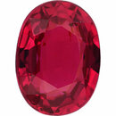 Sharp  Untreated Ruby Loose Gem in Oval Cut,  Purple Red, 6.99 x 5.25  mm, 1.08 Carats