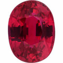 Special  No Heat Ruby Loose Gem in Oval Cut, Dark Purple Red, 6.52 x 4.91  mm, 1.08 Carats