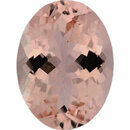 Special Morganite Loose Gem in Oval Cut, Light Orangy Pink, 15.95 x 11.92 mm, 7.96 Carats