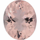 Special Morganite Loose Gem in Oval Cut, Medium Purple Red, 12.05 x 10.10 mm, 4.23 Carats