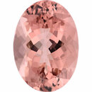 Unique Morganite Loose Gem in Oval Cut, Light Brown Red Orange, 13.98 x 9.98 mm, 5.11 Carats