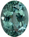 Open Tourmaline Loose Gemstone in Oval Cut, Steely Blue, 10.9 x 8.5 mm, 3.37 carats