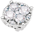 Dazzling Round Diamond Cluster Preset Peg Setting in 14k White Gold With Heart Detail - Diamond Carat Weight Options