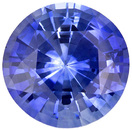 Excellent Sapphire Loose Gemstone in Round Cut, Vivid Medium Blue, 6.1 mm, 1.09 carats