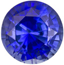 Lovely & Bright Sapphire Loose Gemstone in Round Cut, Vivid Medium Blue, 5 mm, 0.64 carats