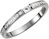 Stunning Diamond Preset Cathedral Shank for Peg Setting in 14k White Gold - Options For 1/4, 1/5 and 3/8 CTW