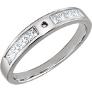Stunning Peg Style Preset Ring Shank With Channel Set Princess Shape Diamonds in 14kt Gold