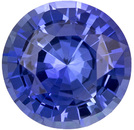 Very Pretty Sapphire Loose Gemstone in Round Cut, Intense Medium Blue, 5.9 mm, 0.92 carats