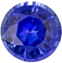 Wonderful Sapphire Loose Gemstone in Round Cut, Rich Blue, 5.9 mm, 0.89 carats
