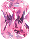 PINK CUBIC ZIRCONIA Radiant Cut Gems - Calibrated