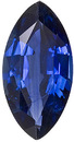 Very Clean & Bright Rich Blue Sapphire, 10 x 5.1 mm, Marquise Cut, 1.28 carats