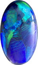 Art Inspired Black Opal Gem in Oval Cut, Vibrant Strokes of Color,14.8 x 8.6 mm, 3.34 carats