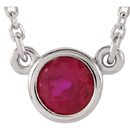 Sterling Silver Ruby 16