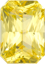 No Treatment Pure Yellow Sapphire Ceylon Gem in Radiant Cut, 7.6 x 5.4 mm, 1.87 Carats - With GIA Certficate