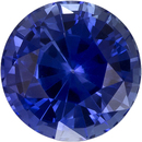 Rich Ceylon Blue Sapphire Natural Gemstone in Round Cut, 5.8 mm, 1 Carats