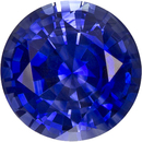 Rich Vibrant Blue Sapphire Natural Loose Ceylon Gemstone in Round Cut, 6.1 mm, 0.98 Carats