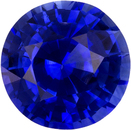 Vibrant Blue Ceylon Sapphire Natural Gemstone in Round Cut, 5.5 mm, 0.84 Carats