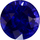 Rare Vibrant Blue Sapphire Natural Ceylon Gemstone in Round Cut, 8.8 mm, 3.8 Carats