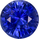 Special  Blue Sapphire Genuine Ceylon Origin Gemstone in Round Cut, 8.9 mm, 3.57 Carats