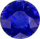 Finest  Cobalt Blue Sapphire Natural Ceylon Gemstone in Round Cut, 8.3 mm, 2.81 Carats