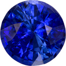 Special Blue Sapphire Genuine Ceylon Gem in Round Cut, 8 mm, 2.49 Carats