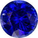 Vibrant Blue Sapphire Natural Ceylon Gemstone in Round Cut, 8.1 mm, 2.44 Carats