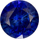 Vibrant Blue Sapphire Genuine Ceylon Origin Gemstone in Round Cut, 7.1 mm, 1.91 Carats