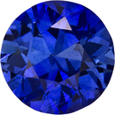 Vibrant Blue Sapphire Natural Ceylon Gemstone in Round Cut, 7.3 mm, 1.64 Carats