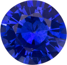 Striking Blue Sapphire Genuine Ceylon Origin Gemstone in Round Cut, 7 mm, 1.47 Carats