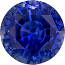 Rich Vibrant Blue Sapphire Natural Gemstone in Round Cut, 6.3 mm, 1.44 Carats