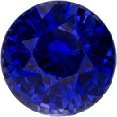 Vibrant Loose Blue Sapphire Loose Gem in Round Cut, 6.3 mm, 1.4 Carats