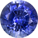 Strong Blue Sapphire Genuine Ceylon Gem in Round Cut, 6.5 mm, 1.4 Carats