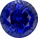 Fiery Blue Sapphire Ceylon Loose Natural Gemstone in Round Cut, 5.9 mm, 1.27 Carats