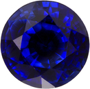 Rich Vibrant Blue Sapphire Loose Madagascar Gem in Round Cut, 6.1 mm, 1.23 Carats