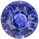Gemmy 7.30mm Round Cut Medium Blue Loose Sapphire Ceylon Stone, 1.85 carats